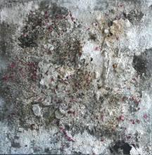 Sage de jour, 140x140cm, 2012, mixed media.